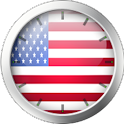 American Flag Clock Widget icon