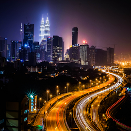 KL view by En Miezter - City,  Street & Park  Night