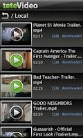 Screenshot of teteVideo - two hands video