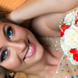 Edisa by Samir Zahirovic - Wedding Bride ( #blue eyes, #beauty, #woman, #bride, #girl, #wedding )