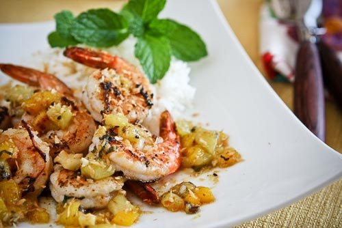 Sautéed Shrimp with Warm Tropical Fruit Salsa Recipe | Yummly