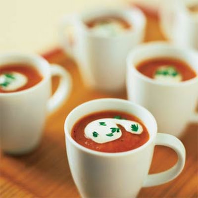 Roasted Red Pepper-Tomato Soup