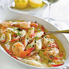 Shrimp-and-Crab Finger Scampi