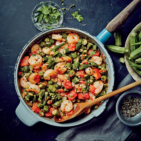 Sautéed Shrimp and Okra