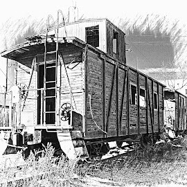 ----------The Old Caboose---------- by Neal Hatcher - Transportation Trains