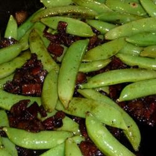 Bacon and Balsamic Glazed Sugar Snap Peas