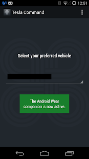Tesla Command for Android Wear Screenshot