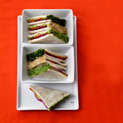 Smoked Salmon-Wasabi Tea Sandwiches