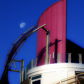 Beacon moon  by Ste D - Buildings & Architecture Other Exteriors ( building, moon, sky, windows, beacon,  )