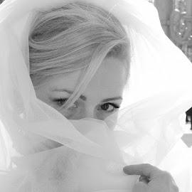 Hiding by Dan Suliman - Wedding Bride ( hiding, dress, white, veil, bride )