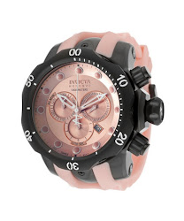 Invicta Men's Venom/Reserve Chronograph Pink Dial Pink Silicone INVICTA-11974 Watch