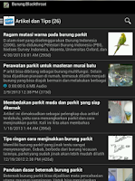Screenshot of Burung Parkit