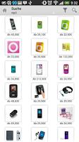 Screenshot of Mobiler Preisvergleich