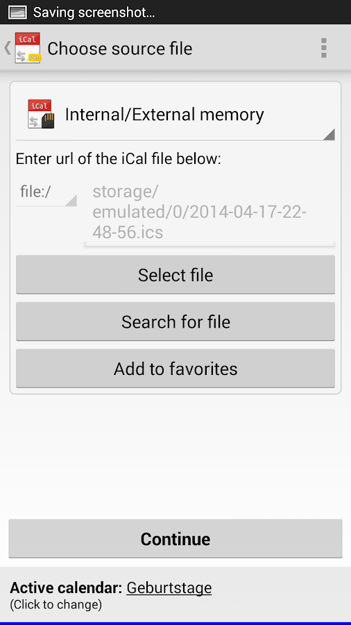 iCal Import/Export CalDAV Pro Screenshot 1