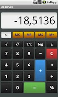 Screenshot of MediaCalc - Pocket Calculator