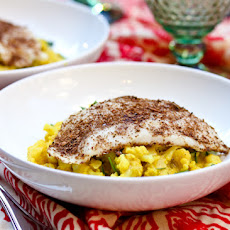 Indian Fish and Creamy Curried Cauliflower
