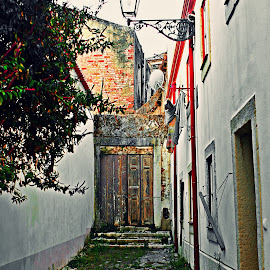 Mysterious Door in Lisboa by Migolatiev Marianna - City,  Street & Park  Neighborhoods