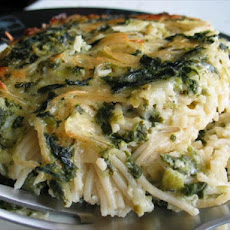Spinach and Spaghetti Casserole