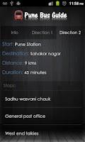 Screenshot of Pune Bus Guide
