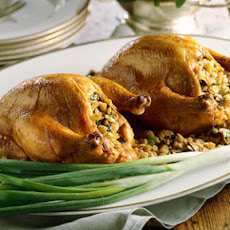 Cornish Hens With Barley-Mushroom Stuffing
