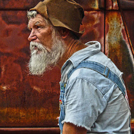 The Hat Says it All by Bob Buurman - People Portraits of Men (  )