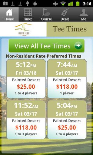 Painted Desert Tee Times