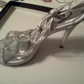 Silver fashion high heel by Terry Linton - Novices Only Objects & Still Life