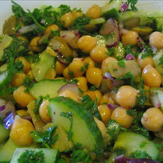 Cucumber and Garbanzo Bean Salad