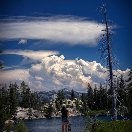 SUMMER CLOUDS  by Sam Okamoto - Landscapes Cloud Formations ( clouds, royal gorge, long lake, lake )