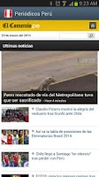 Screenshot of Perú Newspapers