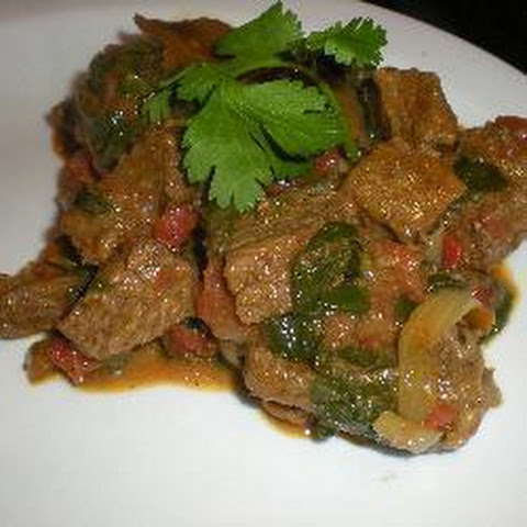 Spinach And Beef Curry