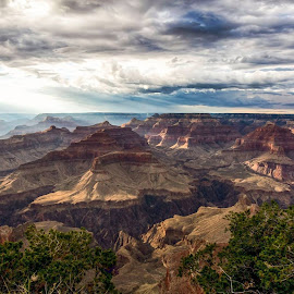 Mothers Point, Grand Canyons, AZ by Tin Tin Abad - Landscapes Mountains & Hills