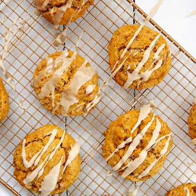 Pumpkin Pecan Scones with Brown Butter Glaze