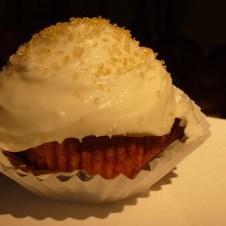 Pumpkin Cupcakes with Goat Cheese Frosting