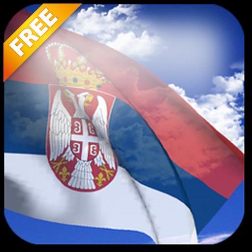 Android aplikacija 3D Serbia Flag Live Wallpaper na Android Srbija