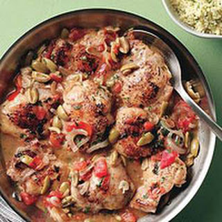 Chicken with Lemon and Green Olives