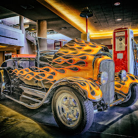 Flames by Ron Meyers - Transportation Automobiles ( 2014 blacktop nationals )