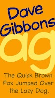 Screenshot of Dave Gibbons FlipFont