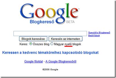 google blogkereső