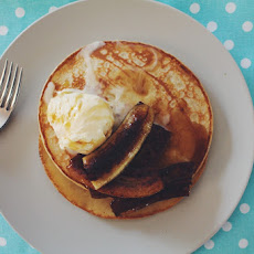 Pancakes with Caramelised Banana