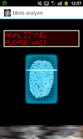 Screenshot of Idiots analyzer