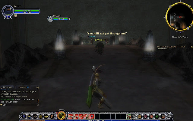 Newbie hunter in newbie dungeon sequence with Dwalin