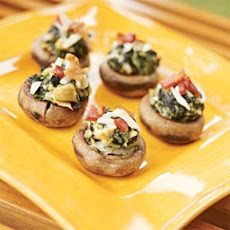 Oyster and Spinach-stuffed Mushrooms