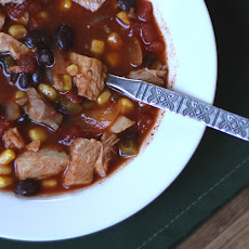 Simple Enchilada Soup with Chicken or Turkey