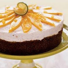 Mango-Pineapple-Lime Cheesecake with Ginger Crust