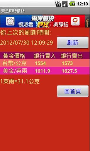 【免費財經App】台灣黃金價格-APP點子