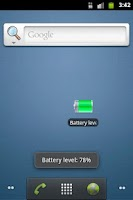 Screenshot of Battery level
