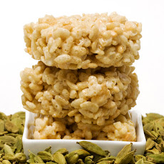 Orange Blossom Cardamom Rice Krispie Treats