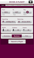 Screenshot of Qatar Airways