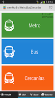 Screenshot of Madrid Metro|Bus|Cercanias